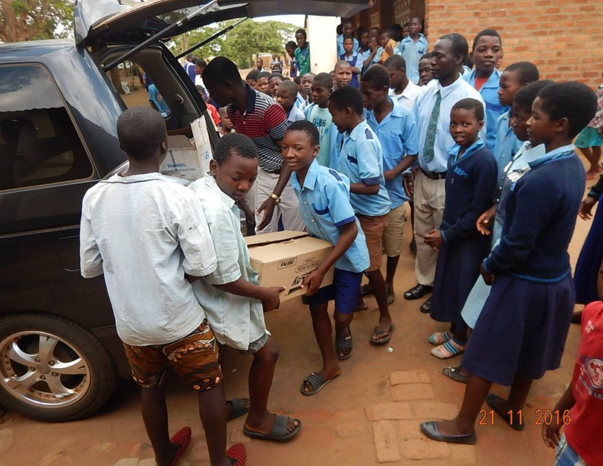 Pat at Malawi Primary School 2016